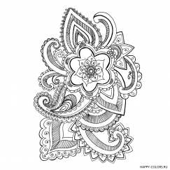 Мандала цветок с узором