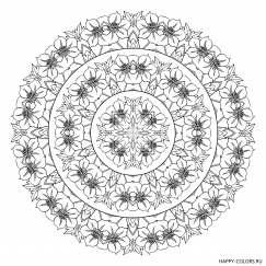 Мандала с цветками