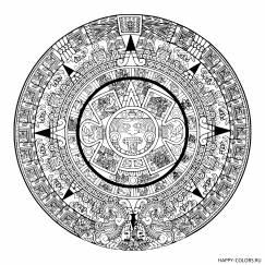 Мандала календарь Майя