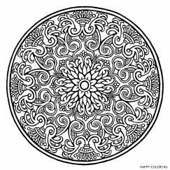 Круглая мандала с орнаментом