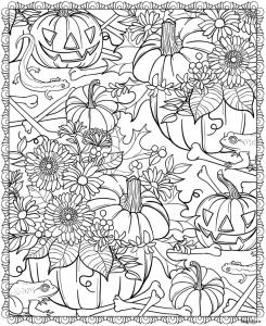 Хэллоуин тыквы и цветы