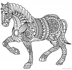 Лошадь с орнаментом