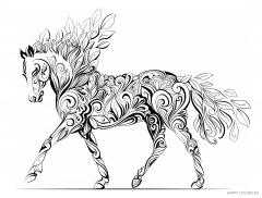 Лошадь из листьев