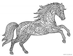 Лошадь с орнаментом антистресс