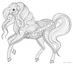 Игривая лошадь