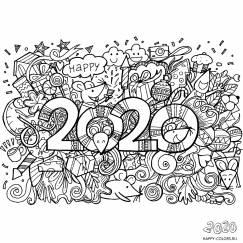 Новогодние раскраски 2020 год