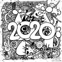 Новогодние раскраски 2020 года