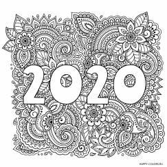 Раскраска новогодняя 2020