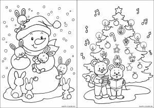 Новогодние раскраски для детей-1