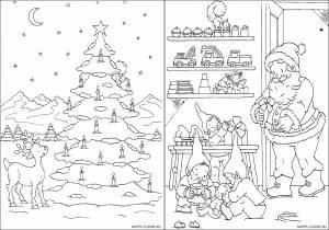 Новогодние раскраски для детей-10
