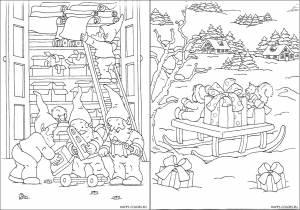 Новогодние раскраски для детей-11
