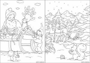 Новогодние раскраски для детей-12