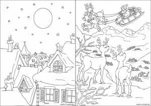 Новогодние раскраски для детей-13