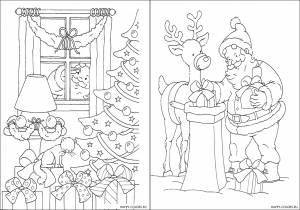 Новогодние раскраски для детей-14