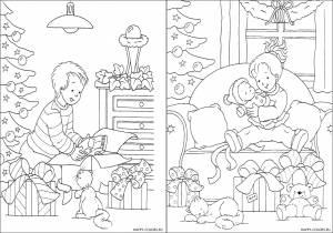 Новогодние раскраски для детей-15
