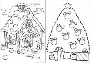 Новогодние раскраски для детей-16