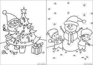 Новогодние раскраски для детей-18
