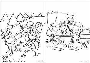 Новогодние раскраски для детей-19