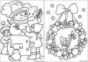 Новогодние раскраски для детей-2
