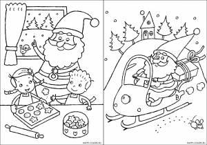 Новогодние раскраски для детей-22
