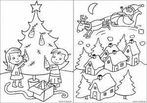 Новогодние раскраски для детей-23