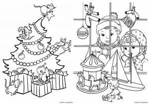 Новогодние раскраски для детей-24