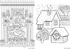 Новогодние раскраски для детей-25