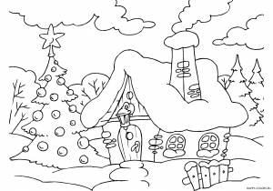 Новогодние раскраски для детей-26