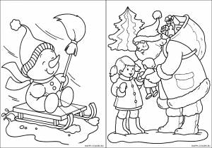 Новогодние раскраски для детей-3