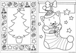 Новогодние раскраски для детей-4