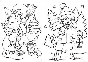 Новогодние раскраски для детей-5