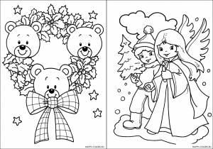 Новогодние раскраски для детей-6