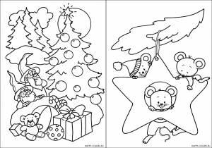 Новогодние раскраски для детей-7