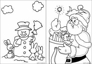 Новогодние раскраски для детей-8