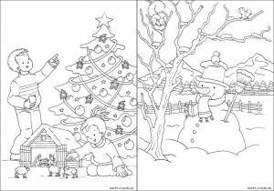 Новогодние раскраски для детей-9