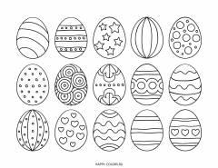 Раскраска пасхальные яйца с узором