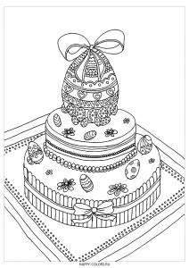 Раскраска шоколадные яйца