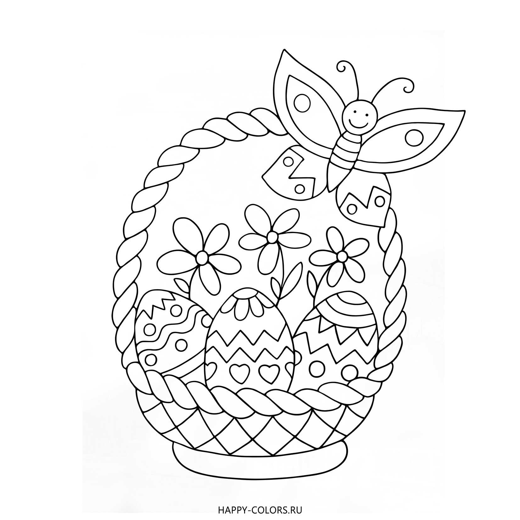 Раскраски Пасха для Детей - Распечатать бесплатно формат А4