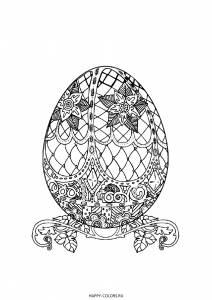 Раскраск яйцо Фаберже