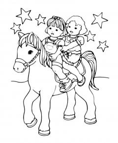Дети Катаются на Пони