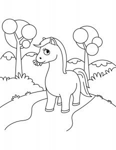 Лошадка Жует Траву