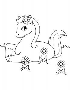 Лошадка и Цветы