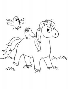 Лошадка и Птички