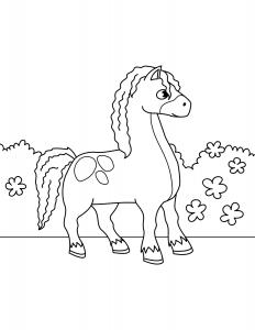 Лошадка с Челкой