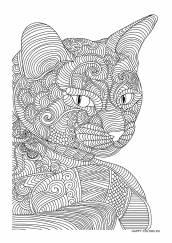 Раскраска антистресс кошка