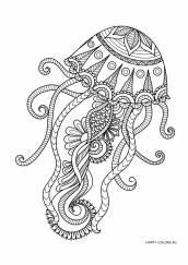 Раскраска антистресс медуза