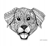 Раскраска антистресс мордочка собаки