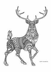 Раскраска антистресс олень