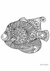 Раскраска антистресс рыба