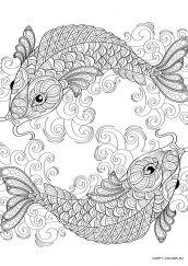 Раскраска антистресс рыбы